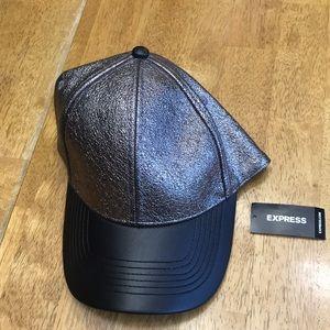 Black And Charcoal Faux Snakeskin Hat
